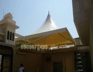 مظلات سيارات حي الياسمين